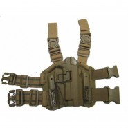 Holster Cuisse CQC Rigide - 1911 - droitier -TAN