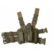 Holster Cuisse CQC Rigide - Glock - droitier -TAN
