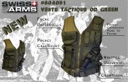 Veste tactique Airsoft Olive BT4 - Swiss Arrms