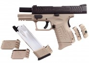 Pistolet WE XDM Ultra Compact 3.8 GBB Tan Gaz