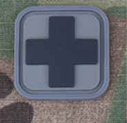 Patch Medic Square PVC Velcro - Gris Noir - Emerso