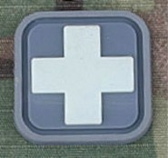 Patch Medic Square PVC Velcro -Gris Blanc - Emerso
