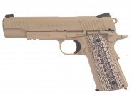 Colt 1911 M45A1 TAN culasse metal Blowback - CO2
