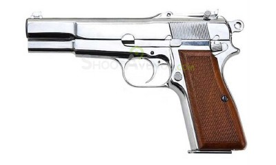 Pistolet WE Browning Hi Power Chrome GBB - Gaz