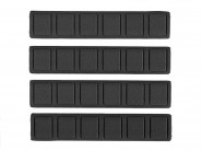 Pack 4 Couvres Rails Keymod Gomme Type A - Black -