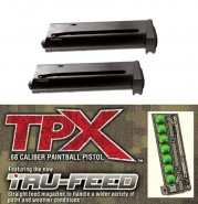 Pack 2 Chargeurs TPX True Feed 7 Billes paintballs